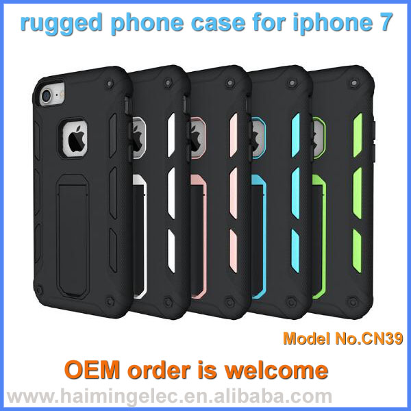 PC + silicon Material drop proof Phone Case for iphone 7/7plus