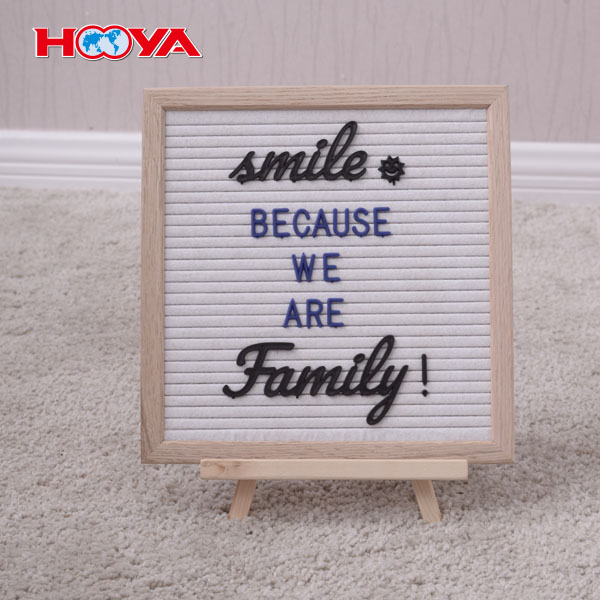 10X10 inch customized aluminum handcraft slotted felt letter board with 290 changeable plastic letters