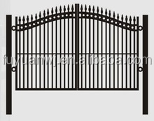 Garden double swing stainless steel gate fence gate