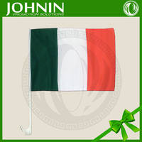 100%polyester India markets promotional customized flag green white orange