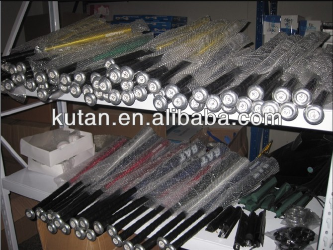 Bulk different color and size baseball bats