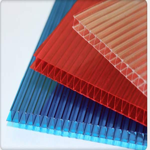 Triple Wall Multi Wall Greenhouse Roof Panels 6mm Polycarbonate Hollow Sheet Solar Panel Roofing Sheets