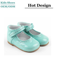 lovely kids flat sole dress shoes 2014,fancy big girl leather shoes china