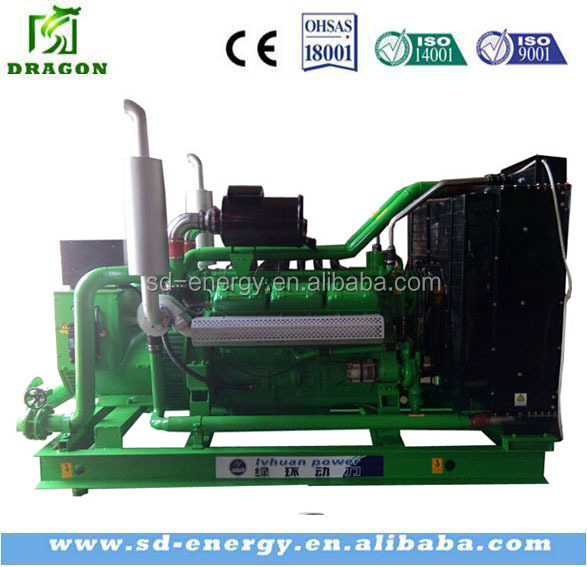 LPG gas power plant CE Approved Nature Gas Engine Electric/Gas Motor Generator (400kw)