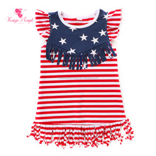 wholesale baby clothes girls dress names with pictures cotton stripe star print baby dress for girls