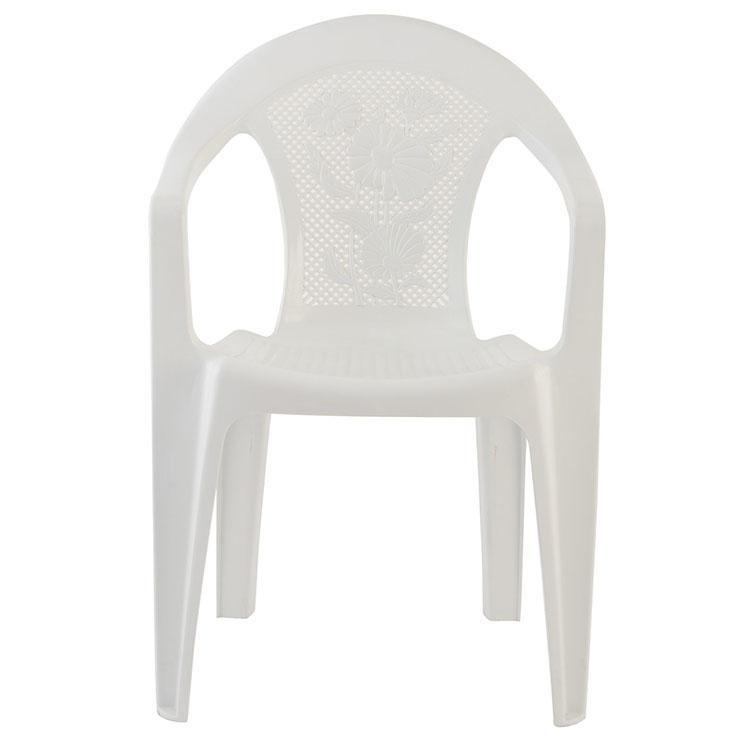 Hot sale cheap plastic side chair with flower back