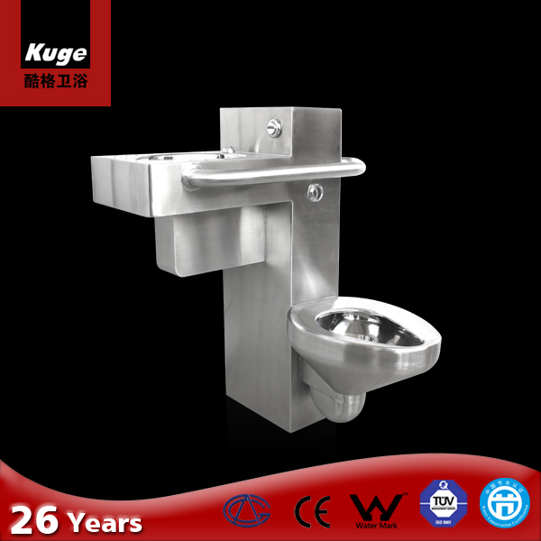 Guangdong foshan stainless steel handicap combination disabled toilet