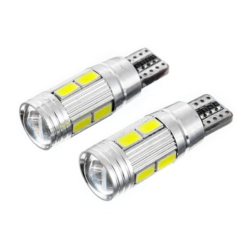 Super bright canbus 12v T10 5630 10smd small car led bulb motorcycle led license plate light