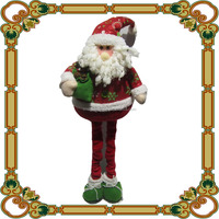 Wholesale Decorative Christmas Standing Santa Doll with Flexible Leg