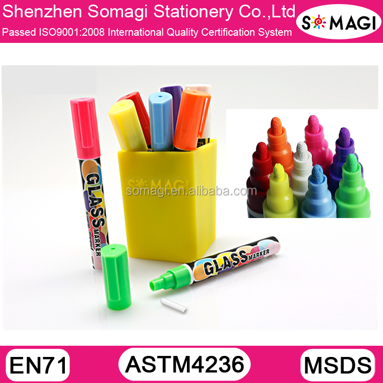Liquid Chalk Markers &Plastic Pen Wide Useful in daily life. Draw all pictures in glass.