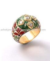 Antique Look Diamond Rose Cut Ring