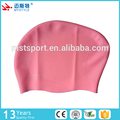 hot sale ladies silicone swim cap long hair swimming cap