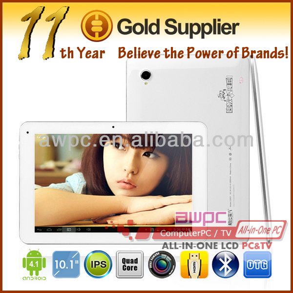 "quad core tablet pc 10"" android 4.0"