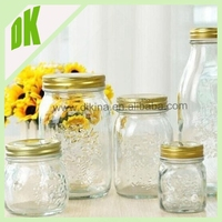 A Mason jar is a molded glass jar used in home canning to preserve food + High quality 16oz drinking glass plastic mason jar