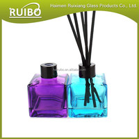 fragrance 50ML square glass perfume bottle with aluminum and plastic cap