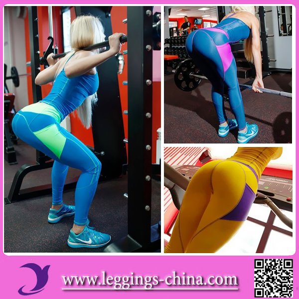 2017 Womens Heart Booty Spandex Yoga Fitness leggings Pants Pattern