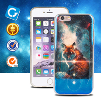 2016Best selling Newest product 3d tpu case imd bluish cell phone case for iphone 6 and 6s