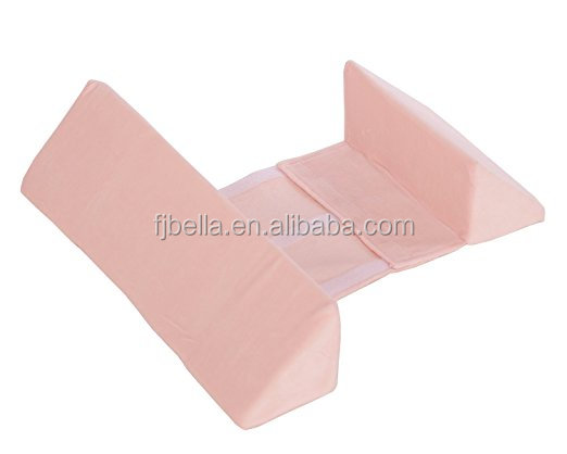 Light pink newborn baby sleep pillow infant support wedge