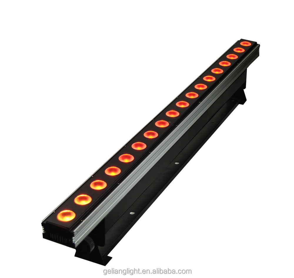 High Brightness 18x10W RGBW 4IN1 Indoor DMX LED Wall Washer Light / led stick