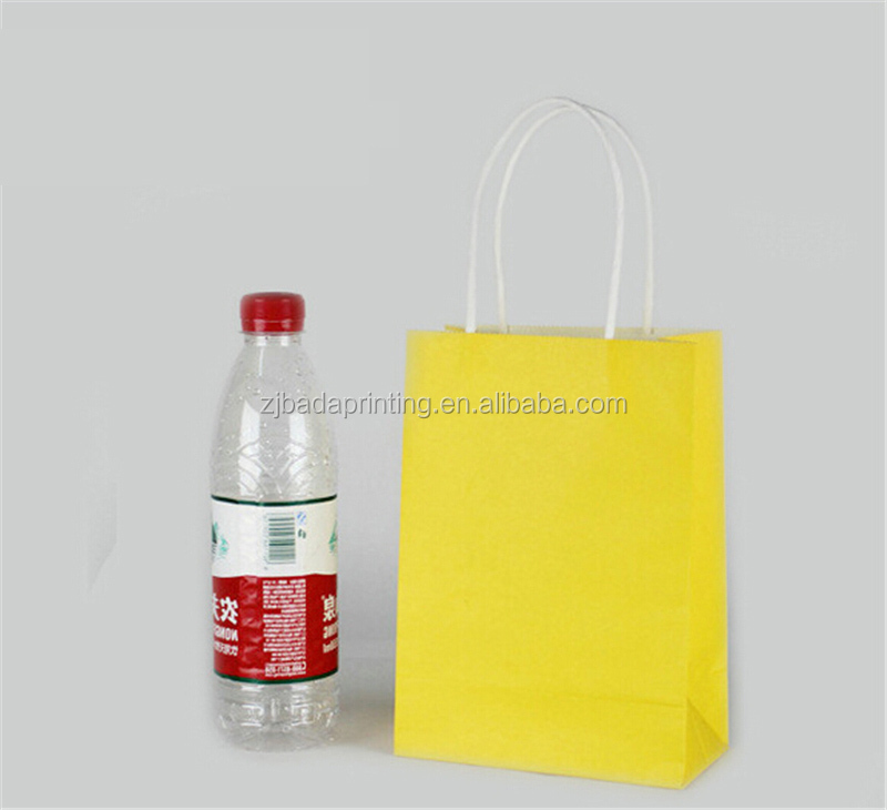 Recyclable Party Loot Bags Kraft Paper Gift Bag With Handles