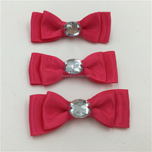Red Knitted Ribbon Bow Tie With Beads