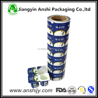Food grade PP/PS/PET/paper cup lidding heat seal film for automatic machine