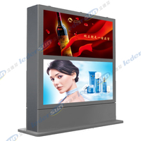 Hot Sex Single Side Outdoor Video P5 Full Color 66''Floor Stand Led Display