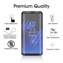 3D Glass Screen Protector Full Adhesive Top Quality Tempered Glass Film Case-friendly For Samsung Galaxy S8/S8+