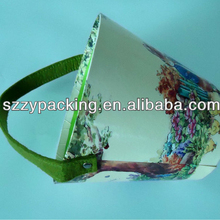 Printed Paper barrel for festival gift with handle