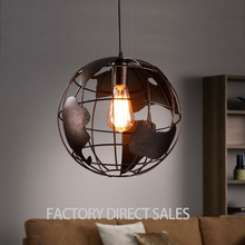 Loft industrial Creative globe Pendant lamp for Bar Cafe Stairs Aisle