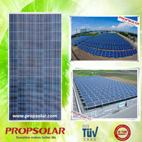 2016 high efficiency flexible 300w poly silicon pv solar panel in black