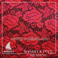 Custom Wide African New Red Swiss Lace Fabrics For Clothing