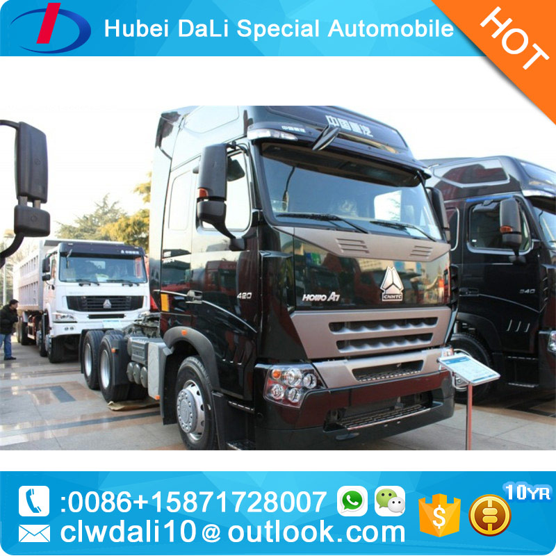 Hot sale 340hp EURO 4 HOWO A7 tractor truck head for sale