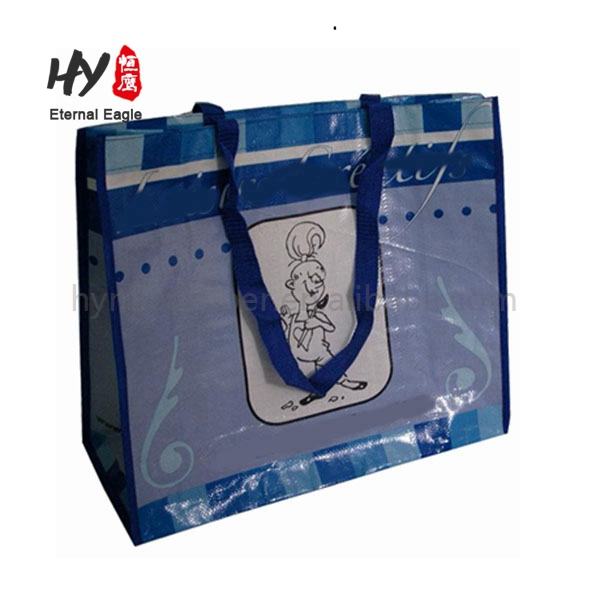 Promotional Reusable Silk Screen Printing PP Non Woven Gift Tote Handle Shopping Bag