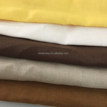 100% linen dyed fabric/ pure linen fabric/dyed yarn linen fabric