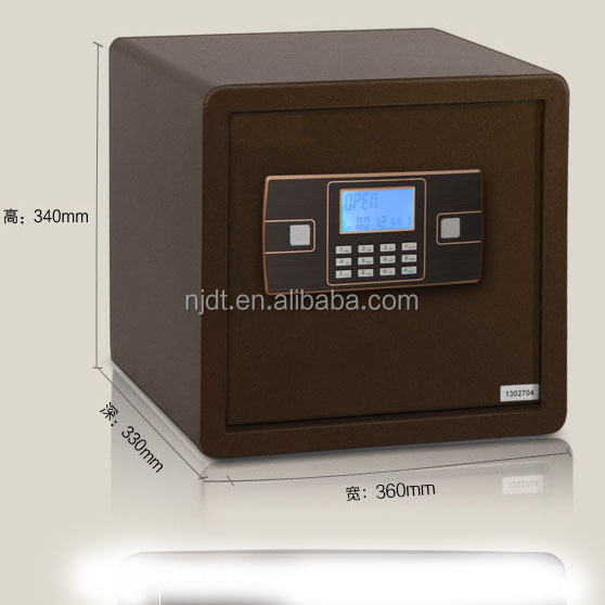LCD displaying safe deposit box