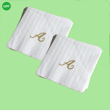 White Custom Printed Cocktail Napkins
