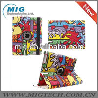 2013 new product double fishes kissing style leather case for ipad3 4 5, for ipad 5 case with stand