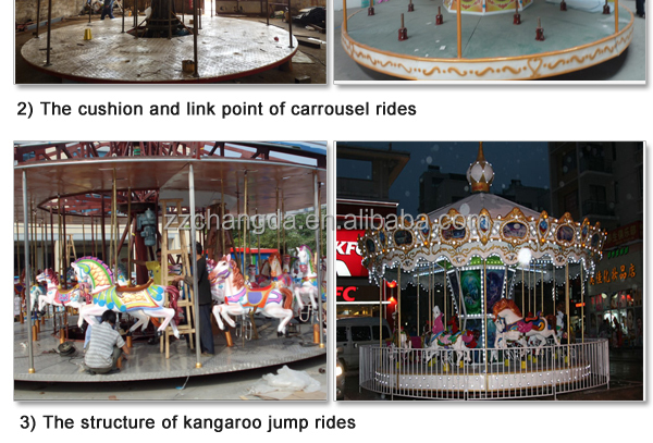 Amusing outdoor theme park rides used merry go rounds for sale