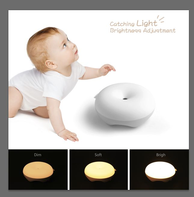 2017 Creative New product IPUDA baby night light kids sensor lamp for christmas toy