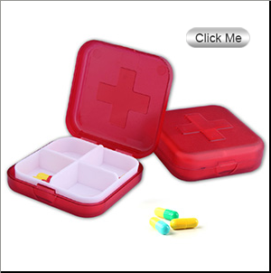 Plastic weekly pill box