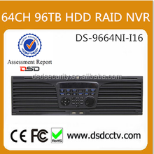 12MP 64CH RADI HDD DS-9664NI-I16 Hikvision NVR With 2 HDMI, VGA For Professional Project