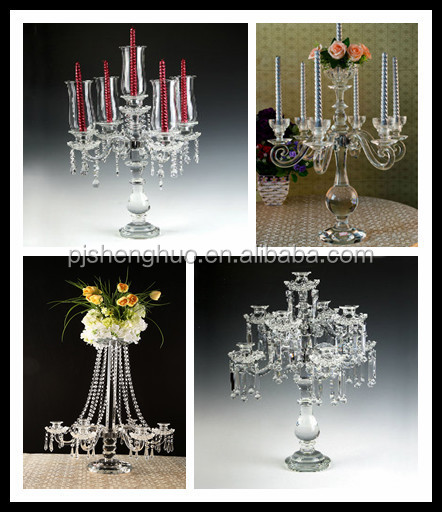 Lotus Flower crystal Candle Holder for wedding