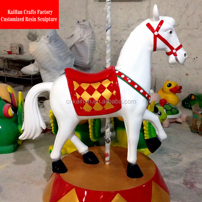 indoor use fiberglass carousel horse wholesale sculptured