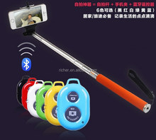 Provide OEM service logo print selfie stick extendable wireless with bluetooth remote control shutter handheld monopod