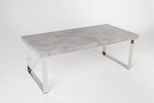 cement color paper wooden top and stainless steel leg modern coffee table ,tea table