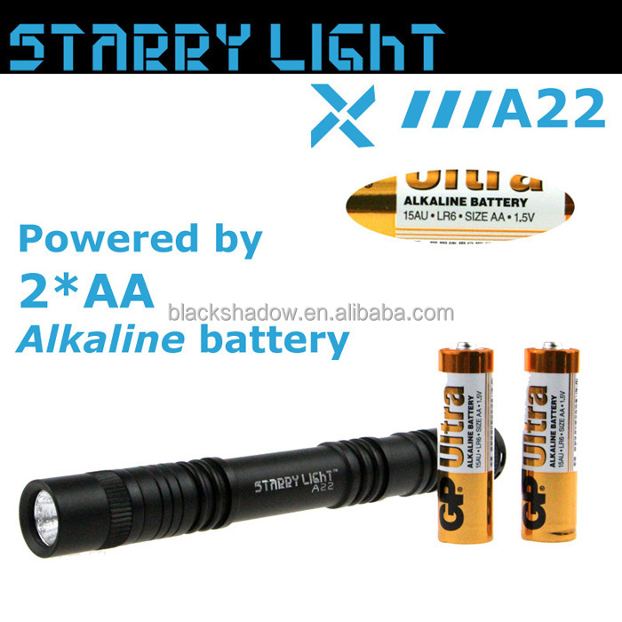 StarryLight A22 pen torch 2AA dry battery led flashlight torch light