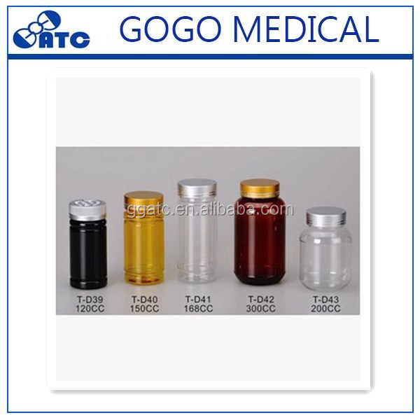 100ml high quality acrylic pill/capsule plastic bottle