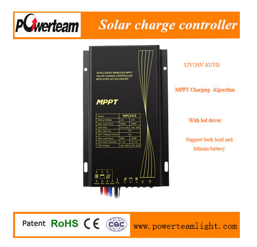 12/24V SRNE MPC2415 10A 15A IP68 solar charge controller MPPT