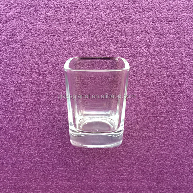 2 Ounce Square Shot Glass for Whiskey, Tequila, Vodka